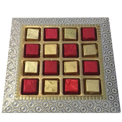 Tasty Handmade Assorted Chocolates Platter