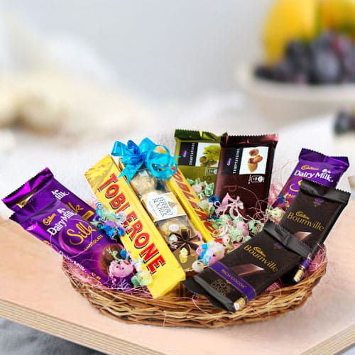 Yummy Assorted Chocos Gifts Basket