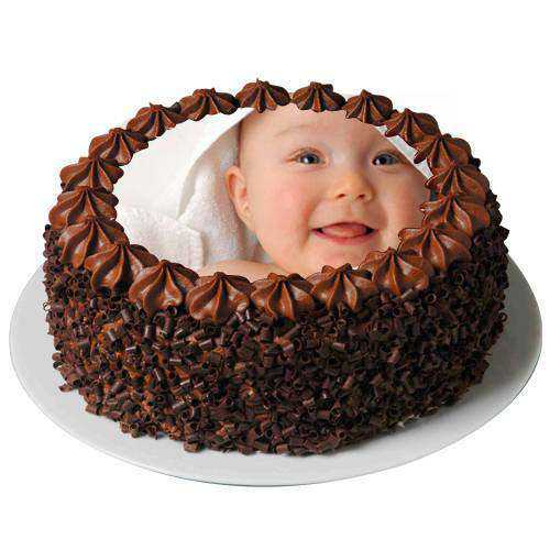 Tasty Chocolate Photo Cake