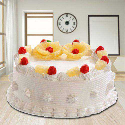 Taste of Success 2.2 Lbs Eggless Pineapple Cake from 3/4 Star Bakery