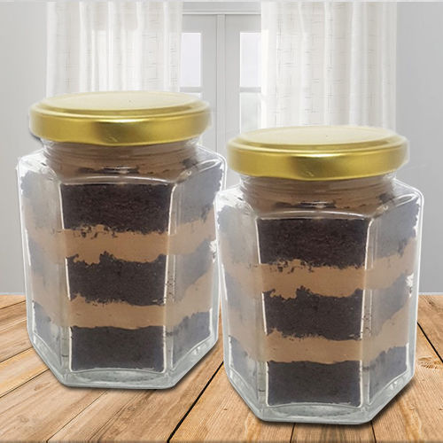Yummy Chocolate Jar Cake Set