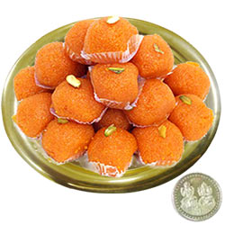 Free Coin with Haldirams Ladoo N Gold Plated Thali Combo