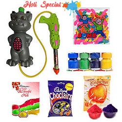 Holi Sprays with Colour and Chocolates Hamper