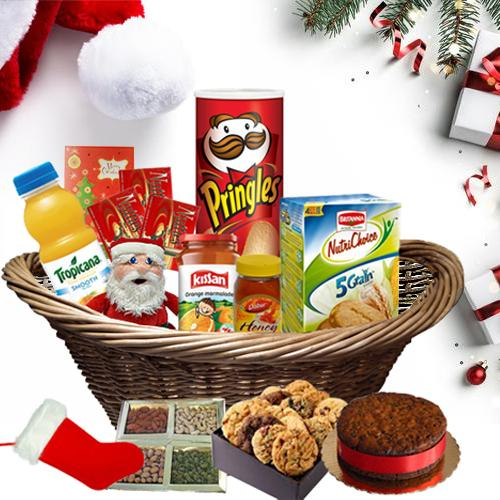 Delightful Christmas Hamper with Hint of Joy