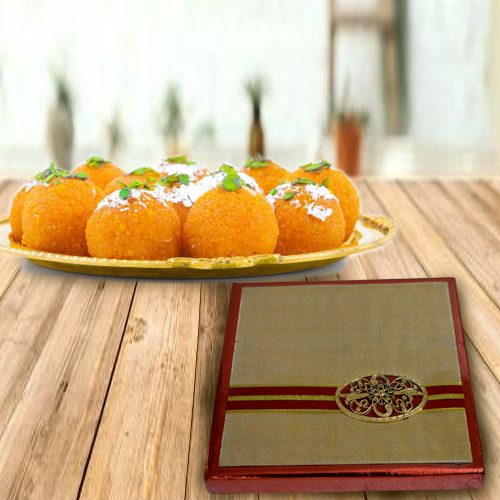 Box of Mixed Dry Fruits with Haldirams Boondi Ladoo