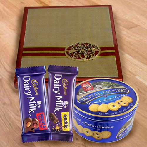 Blissful Combo of Chocolates, Cookies  N  Dry Fruits