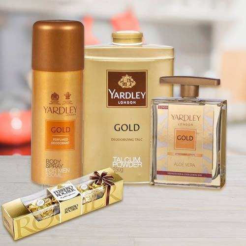 Yardley Grooming Set for Men N Ferrero Rocher
