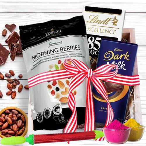 Luscious Chocolates Gift Hamper for Holi
