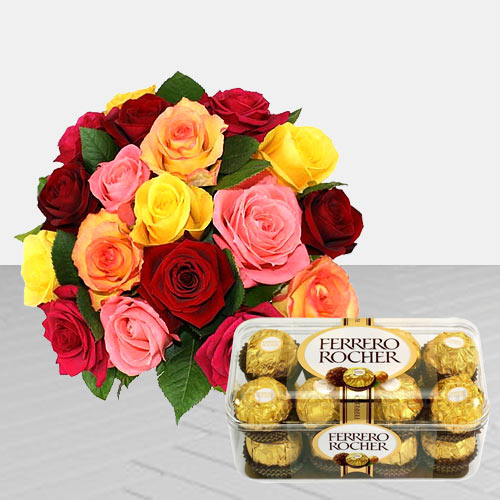 Pleasant Roses and Chocolaty Ferrero Rocher