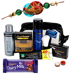 Remarkable Display of Park Avenue Products with Free Rakhi, Roli Tilak and Chawal for your Beloved Brother