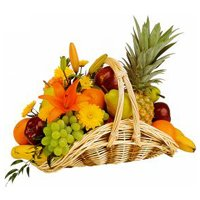 Mouth-Watering Basket of Fresh Fruits