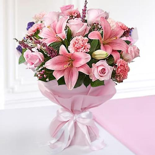 Silky-Smooth Love with Care Mixed Seasonal Flower Bouquet