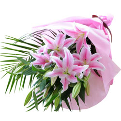 Glorious Bouquet of Pink Lilies