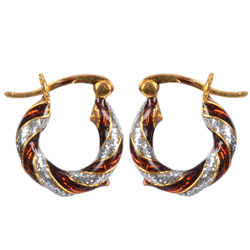 Exclusive Gold Toned Metal Looped Earrings Set
