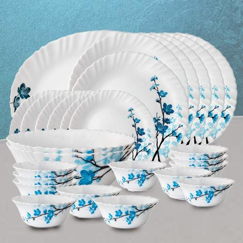 Exclusive Larah by Borosil Mimosa Opalware Dinner Set