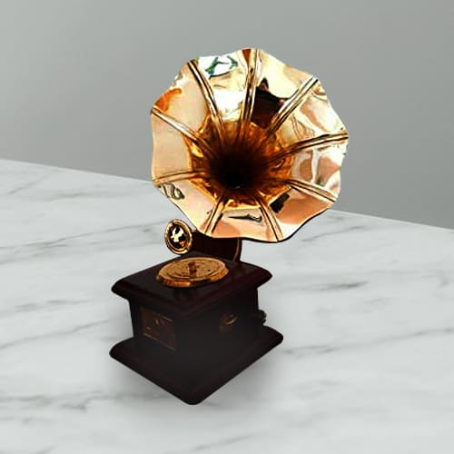 Charming Vintage Dummy Handmade Gramophone for Home Décor