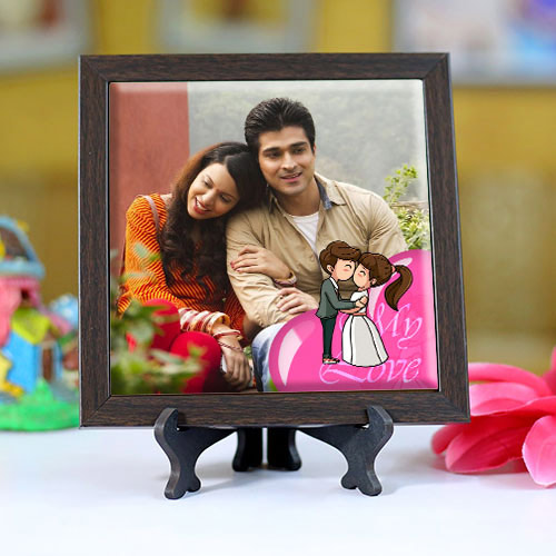 Eye-Catching Personalized Photo Square Tile