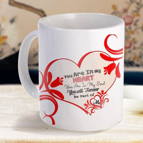 Exclusive White Coffee Mug with a Personalized Message