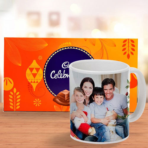 Smart Personalized Coffee Mug with Cadbury Celebrations Pack