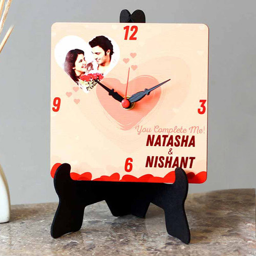 Special Personalized Photo Square Table Clock