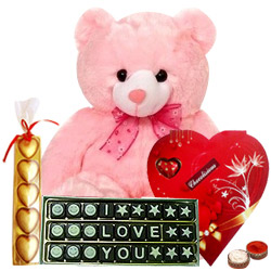 Amazing Best Forever I Love You Chocolates Gift Hamper with free Roli Tilak and Chawal