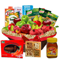 Artistic Selection Breakfast Basket of Tasty Treats