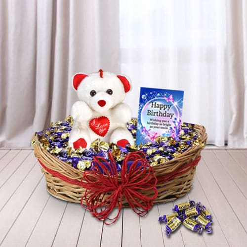 Unique Birthday Delight Gift Basket for Her<br>