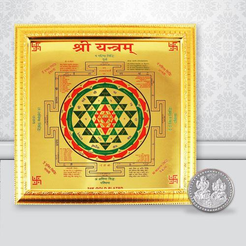 Combo of Shree Yantra N Free Coin