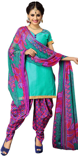 Chic Suredael Multicolour Printed Cotton Suit for Women