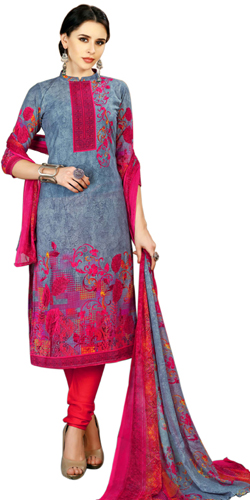 Trendy Ladies Special Spun Cotton Floral Design Salwar Suit