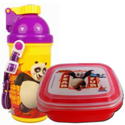 Trendy Kids Delight Kung Fu Panda Tiffin Set