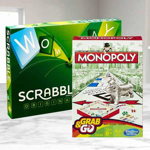 Remarkable Mattel Scrabble Board N Monopoly Grab N Go Game