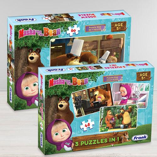 Marvelous Frank Masha The Bear Puzzle Set