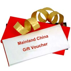Mainland China Gift Vouchers Worth Rs.1000
