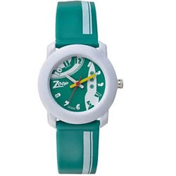 Titan Zoop Presents Fancy White and Green Kids Watch
